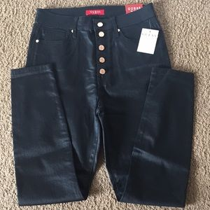 Guess Coated high waisted jeans